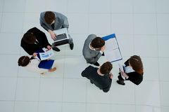 Top view of business people. Top view of business people Royalty Free Stock Photos
