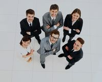 Top view of business people. Top view of business people Royalty Free Stock Image