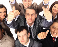 Top view of business people Stock Photo