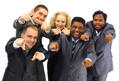 Top view of business people Stock Photography