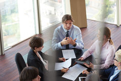Top view of business people group on meeting Stock Image