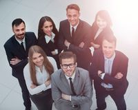 Top view of business people. In office Stock Photography