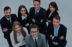 Top view of business people. In office Royalty Free Stock Image