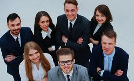 Top view of business people. In office Royalty Free Stock Photos