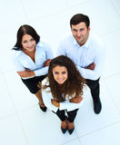 Top view of business people Royalty Free Stock Photo