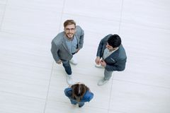 Top view.business team discussing important issues. Photo with copy space royalty free stock photo