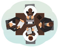 Top view of a business team Royalty Free Stock Photos