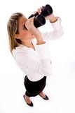 Top view of businesswoman look Royalty Free Stock Photos