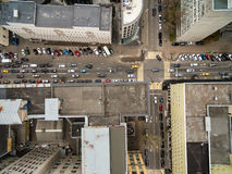 Top view of busy street Stock Photo