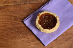 Top view butter tart Royalty Free Stock Images