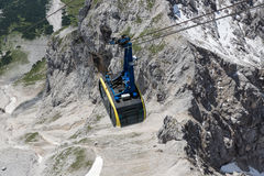 Top view cable car in Austrian Alps mountains Stock Photography