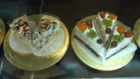 A great variety of cakes. stock video