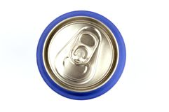 Top view of can of soda Stock Images