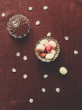 Top view of candy in a bowl Royalty Free Stock Photography