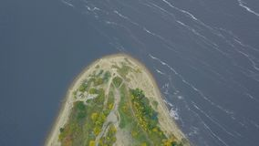 Top view of the Cape on the lake. Clip. Stunning lake and foreland view from mount.  Stock Images