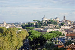 The top view of Capitoline Hill in Rome Royalty Free Stock Photos
