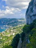 Top view of the Capri from the Scala Felicia stock photos
