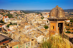 Top view of Cardona from castle. Catalonia stock image