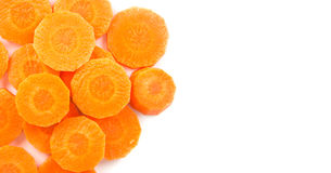 Top view of carrot - orange vegeable on white Royalty Free Stock Photography