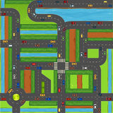 Top view of cars on street. Illustration royalty free illustration