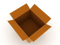 Top view of carton box Stock Images
