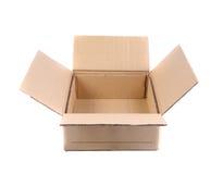 Top view of carton box Royalty Free Stock Photos