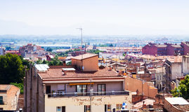 Top view catalan city. Figueres. Catalonia Stock Image
