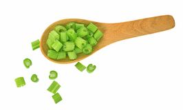 Top view celery isolated on white background stock photography