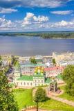 Top view  center  Nizhny Novgorod Royalty Free Stock Photography