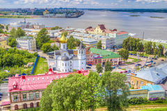 Top view  center  Nizhny Novgorod Royalty Free Stock Images