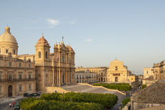 Top view the center of noto syracuse sicily Italy europe Royalty Free Stock Photography