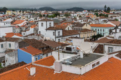 Top view of center of Ponta Delgada (Azores). Royalty Free Stock Images