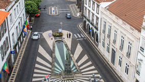 Top view of center Ponta Delgada, Sao Miguel Island, Portugal. Stock Photography