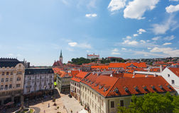 The top view on a central square. Bratislava Royalty Free Stock Photography