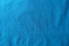 Top view of cerulean cotton fabric Royalty Free Stock Images
