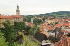 Top view of Cesky Krumlov royalty free stock photos
