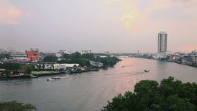 Top view of Chaopeaya river Bangkok,Thailand stock video footage
