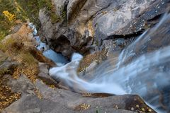 Top view of Chasm Falls. Top view of Fall River at Chasm Falls in Rocky Mountain National Park Stock Photos
