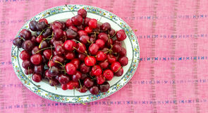 Top View of Cherries Stock Images