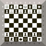 Top View Chessboard Vector Chess Game stock illustration