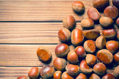 Top view of chestnuts Stock Photos