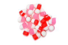 Top view chewy valentines candy Stock Image