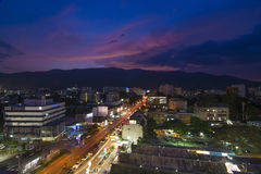 Top view of Chiangmai city Royalty Free Stock Image