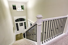 Top view of Chic two story entryway from staircase Stock Photos