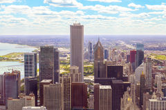 Top view on chicago Royalty Free Stock Photo