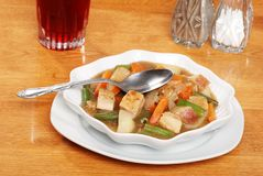 Top view chicken stew Royalty Free Stock Image