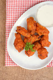 Top view chicken wings with sauce Stock Image