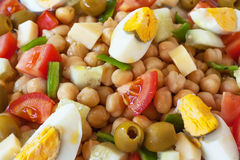 Top view of a chickpea salad Royalty Free Stock Image
