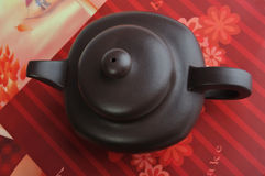 Top view of Chinese tea pottery Stock Images