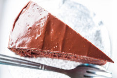 Top view of chocolate cake Stock Images